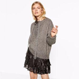 Zara Lace Up Sweater
